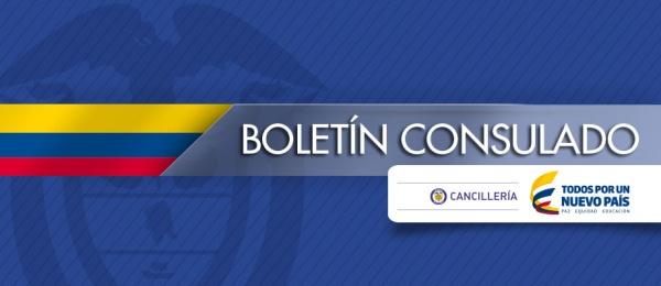 Boletín Consulado de Colombia en Valencia