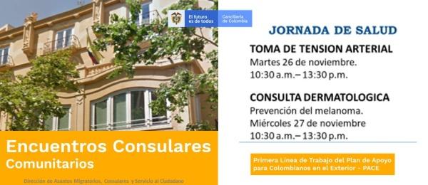 Consulado de Colombia en Valencia organiza en el Encuentro Consular Comunitario una jornada de salud