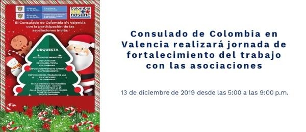 Consulado de Colombia en Valencia realizará jornada de fortalecimiento del trabajo